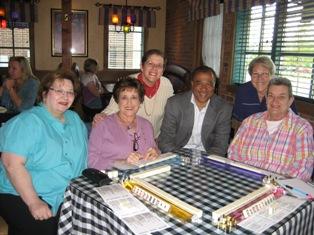 Steve Davis CEO Bob Evans at Mimi's Charlotte