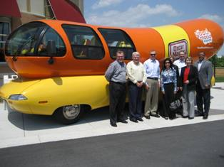April 22 Weinermobile with the team in Charlotte